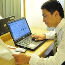 全館無線LAN対応でパソコンでのお仕事や情報収集に便利♪
