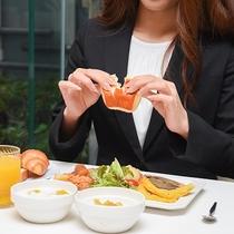 *【朝食バイキング】健康的な朝ごはんが食べられます。