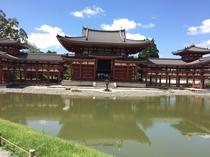 【平等院鳳凰堂】京都駅からJR奈良線で17分(みやこ路快速)、宇治駅下車、徒歩10分。