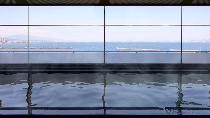 温泉大浴場 内風呂からの景色 イメージ