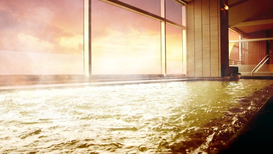 温泉大浴場 明け方 イメージ