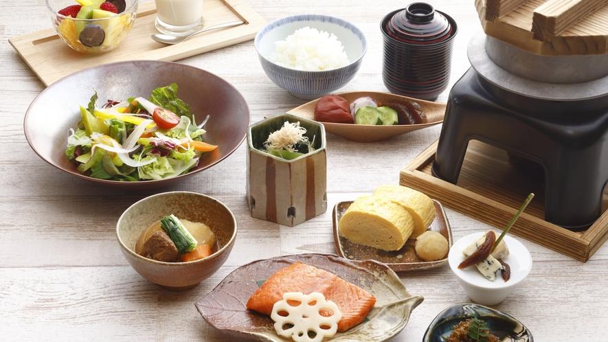 滋賀県産の食材をふんだんに使用した、クラブフロア特別朝食