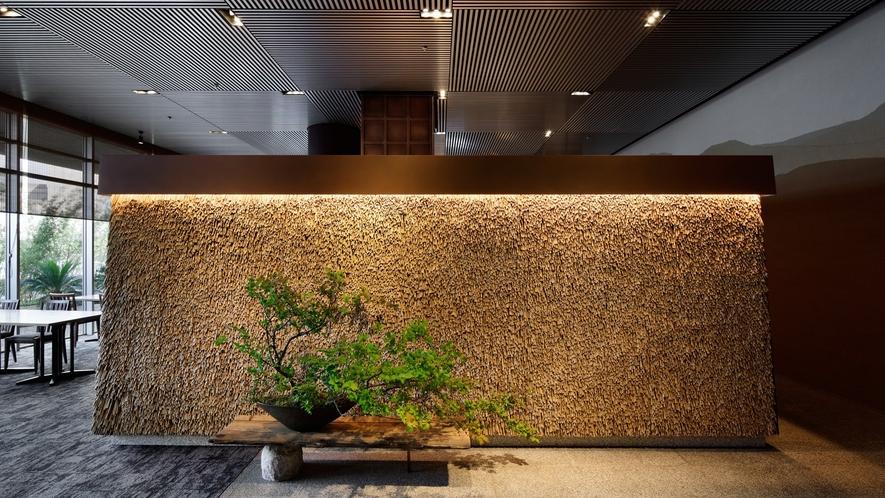 日本料理おおみ入口 『葭(よし)』のアート
