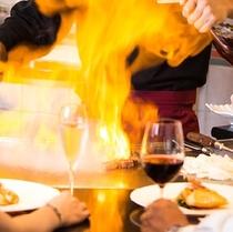 ■鉄板焼 山茶花■       シェフが目の前で焼き上げます