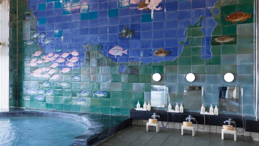 ◆男性大浴場(内湯壁画)