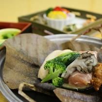 榛名地鶏の朴葉焼き
