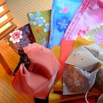 【色浴衣】鮮やかな柄を季節に合わせてご用意しています。帯や小物も合わせてお選びください。