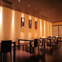 【TATTA RIGOLO】和モダンな雰囲気のレストランです。楽しいお食事のひとときを演出します。