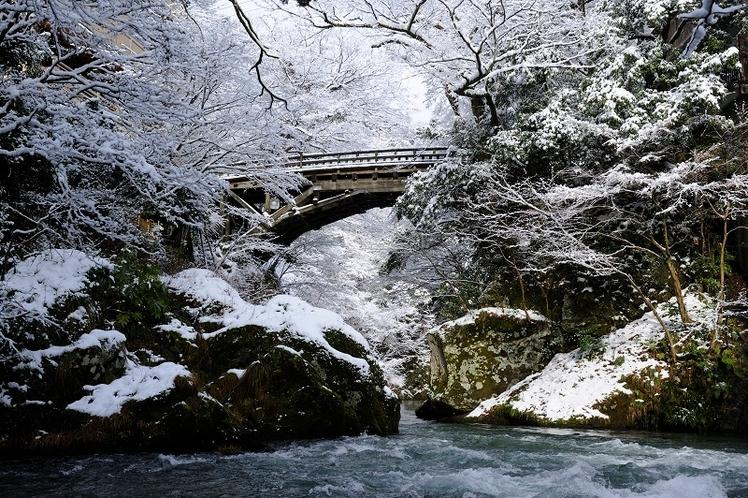 こおろぎ橋 雪景色