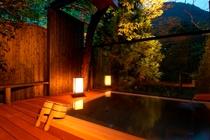 ◆貸切露天風呂・夜◆