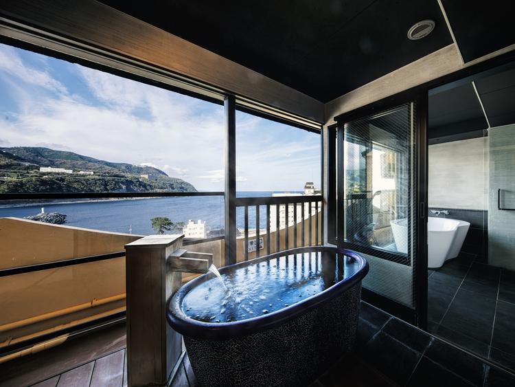 【特別室】露天風呂付スイート84平米最上階の景色を満喫