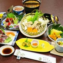 【お食事】夕食/もっちり♪四万十鶏とフレッシュ野菜の「贅沢鍋会席」※一例