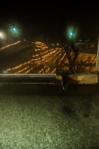 青根温泉雪明かり