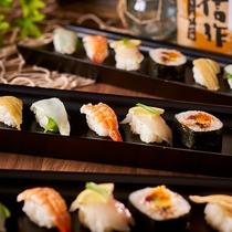 種類豊富なお寿司も食べ放題!