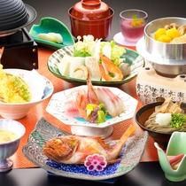 【海遊御膳】旬の食材ををバランスよく盛り込んだお料理をご用意♪