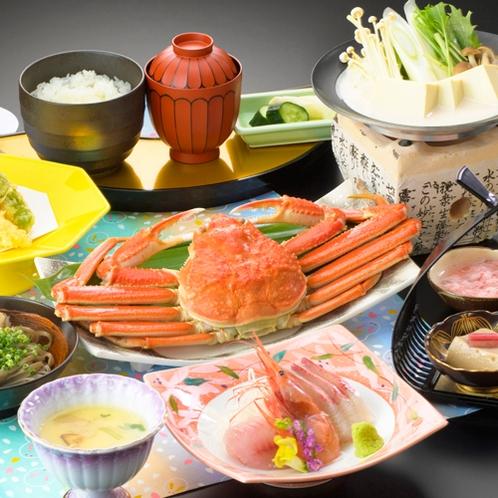 【かに彩りご膳】小蟹500gのゆで蟹1杯付き♪プチリッチな気分が味わいたい方におススメ!!