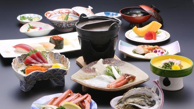 【部屋食】せっかくの旅行はお部屋食(A)で贅沢に!朝食は品数豊富なバイキングで