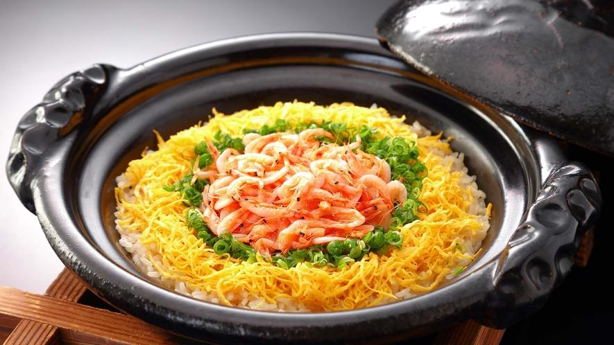 桜海老の炊き込み御飯 ※北の丸料理イメージ 春