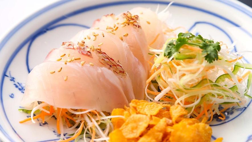「名物」鮮魚の吐火羅造り