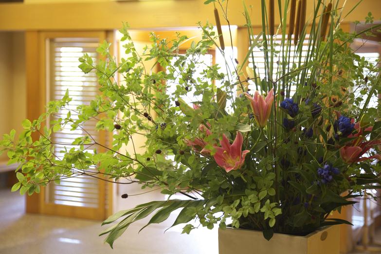 玄関のお出迎えのお花