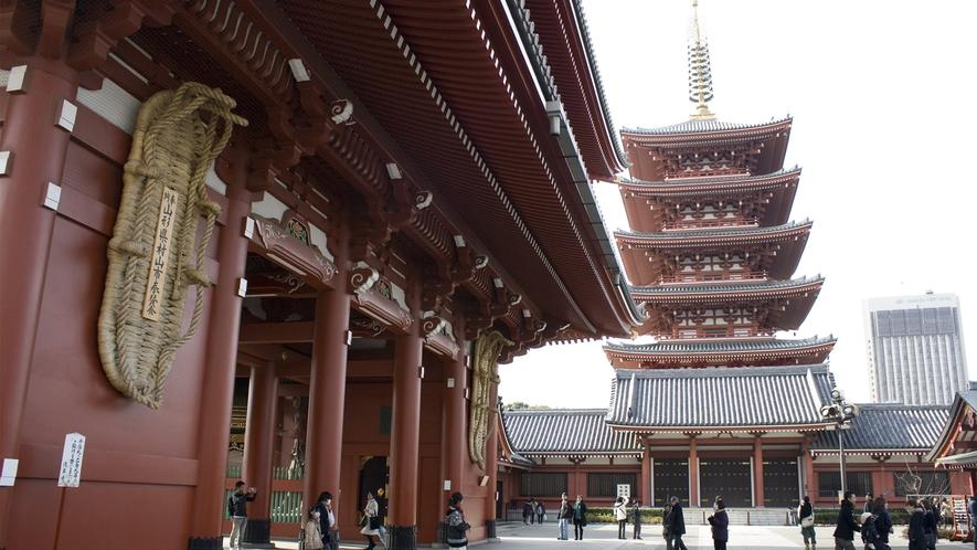 ≪浅草寺 宝蔵門と五重塔≫
