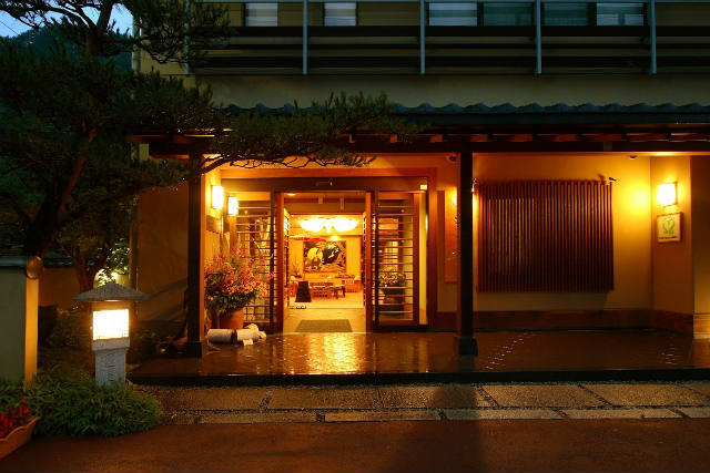 夜景の玄関