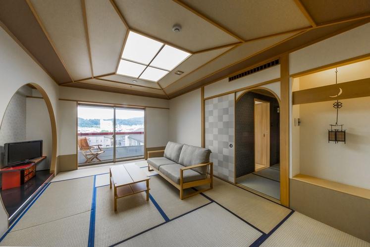 ◆[特別和室]檜の内風呂とベッドルーム付-禁煙-