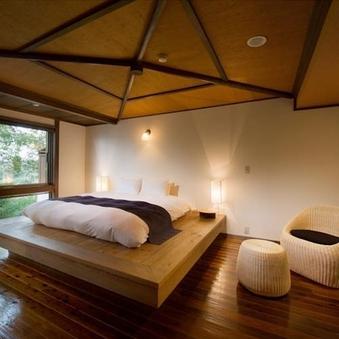 露天風呂付広々和洋室/ダブルベッド