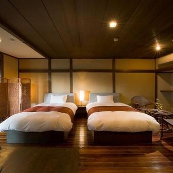 露天風呂付広々和洋室/ツインベッド