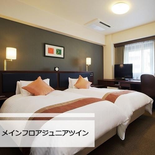 シングルサイズのベッドが2台入っております。リーズナブルなツインルームです。