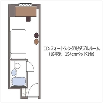 コンフォートシングル/ダブルルーム