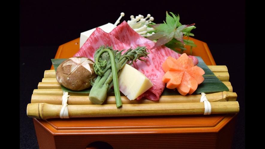 【太閤:牛と山菜の肉すき】