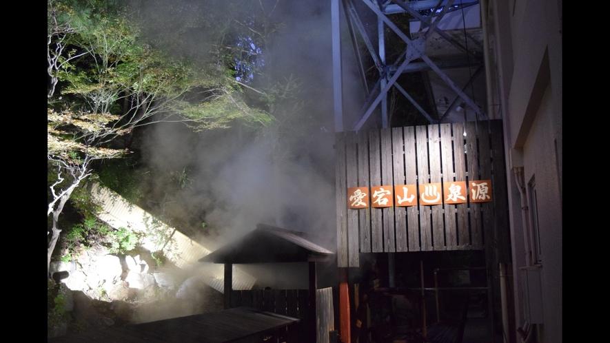【夜】愛宕山泉源