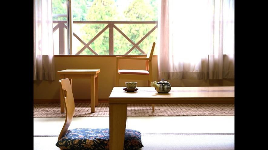 【和室】自然に囲まれた客室は静かな空間でゆったりお過ごしいただけます。