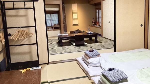 和室二間続き(8畳+8畳)京の坪庭を臨む和の佇まい(禁煙)