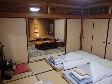 和室(居間8畳&寝室8畳)京の坪庭を臨む和の佇まい(禁煙)