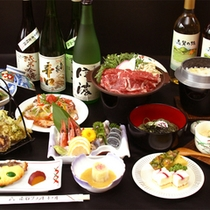 夕食のイメージです ※シーズン、仕入れ状況により内容は変わります。