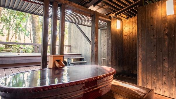 106絹|洋室+天然温泉陶器露天風呂41平米+テラス12平米
