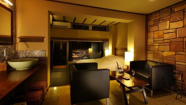 107疆|洋室+天然温泉岩露天風呂38平米+テラス7平米