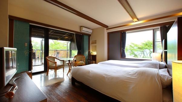 101蘭|洋室 +天然温泉露天風呂45平米+テラス12平米