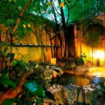 温泉露天付客室の一例