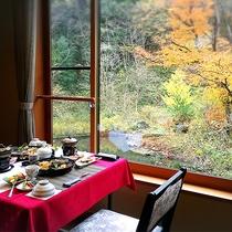 朝の朝食風景