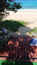 デッキ~砂浜