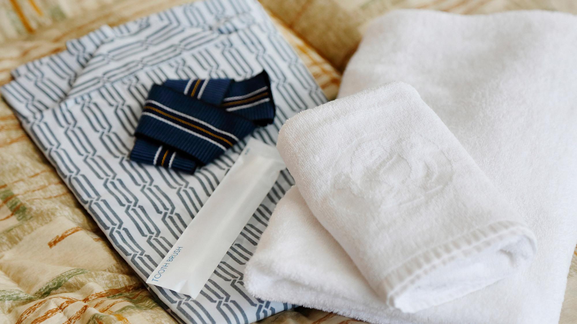 ・タオルと浴衣