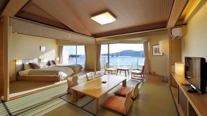 海側和モダンツイン「月うさぎ」 広めのお部屋で日本三景松島の景観を堪能