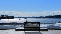 ホテル中庭からの松島湾の風景①