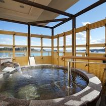 露天風呂付客室芭蕉亭「松の間」露天風呂