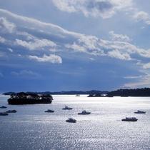 客室から松島湾の眺め①