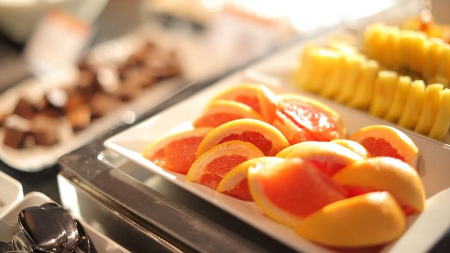 【人気の朝食バイキング】季節のフルーツ