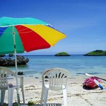 *お部屋から少し降りるとすぐにビーチ☆カヌーやシュノーケリングも楽しめます!